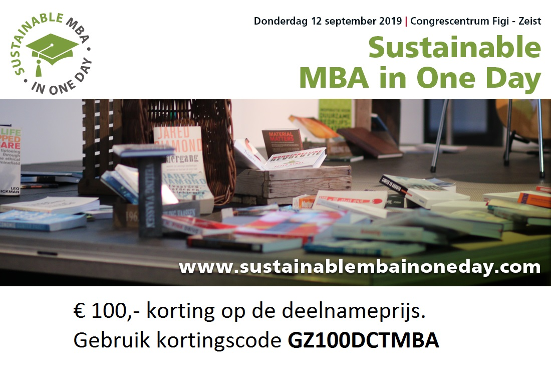 Sustainable MBA in One Day Kortingscode GZ 2019