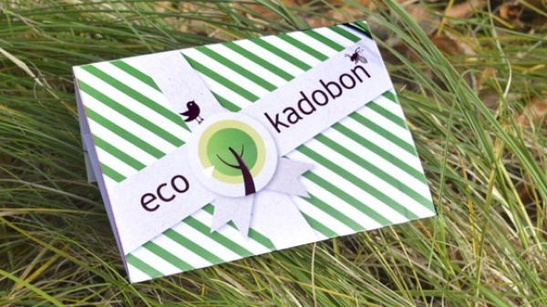 EcoKadobon met kerstboom en bloemenzaadjes!