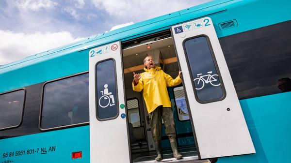 Duurzame WINK-trein van Arriva omgetoverd tot een belevenistrein